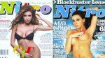 Η Όλγα Φαρμάκη ολόγυμνη & γυμνόστηθη σε εξώφυλλα