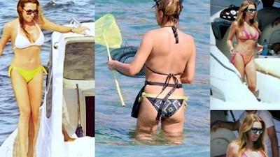 Τατιάνα Στεφανίδου μαγιό κοντές φούστες
